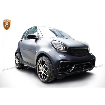 FRP CF Fiber Glass Body Kits Fit For 2015-2017 Smart Fortwo C453 A Style Body Kit Bumper Side Skirts Roof Spoiler Wing