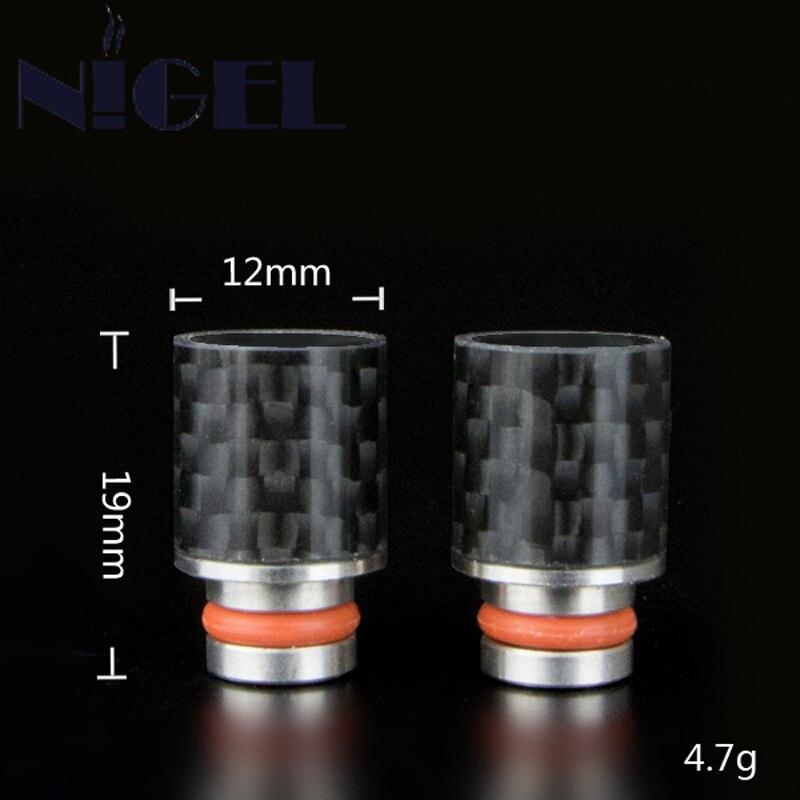 Найджел углерода Волокно мундштук широким отверстием потека 510 потека для CE4 CE5 Atty распылитель электронная сигарета