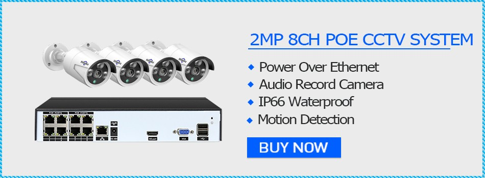 8CH 4CAMS 2MP POE CTTV System