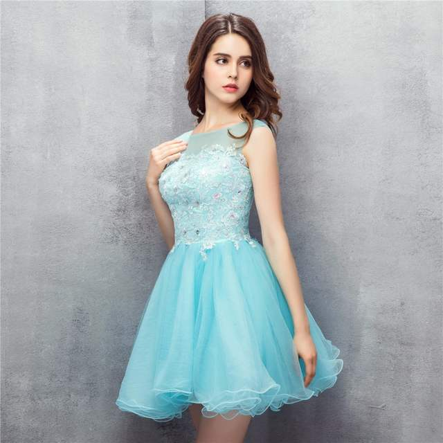 6eb8b6720f9 2018 Candy Color Homecoming Dresses Tulle Applique Sequins Ball Gown Scoop  Plus Size Custom Made Formal