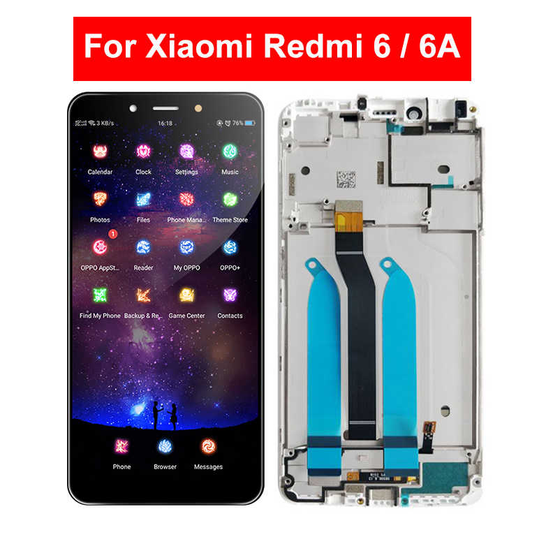 For Xiaomi Redmi 6 Redmi 6A M1804C3CG M1804C3CT M1804C3CH M1804C3CC M1804C3CE LCD Display Digitizer Touch Screen Assembly Frame