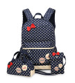School Bags for Teenagers Girls Schoolbag Large Capacity Ladies Dot Printing School Backpack set Rucksack Bagpack Cute Book Bags