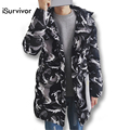 New 2017 Hot Sale Men Thick Coats Parkas Camouflage Fashion Winter Men Jacket Windproof Warm Slim Fit Men Outwears 3XL Plus Size