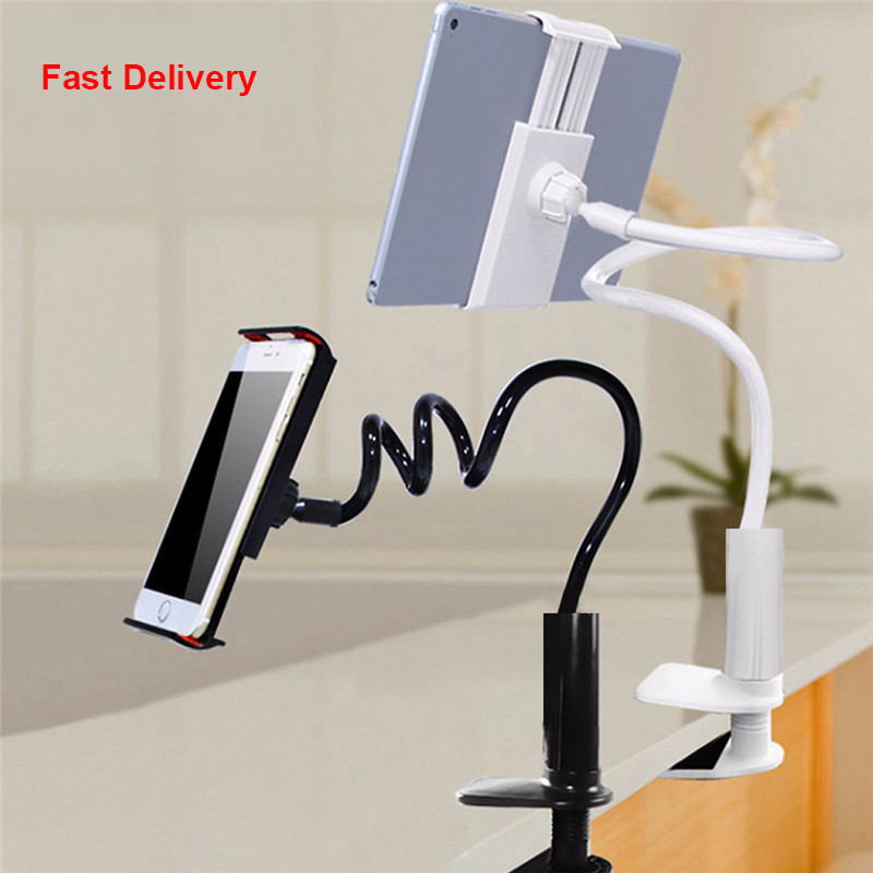 Smartphone holder Universal Long Arm Lazy Mobile Phone Stand Holder Flexible Bed Desk Table Clip Bracket For iphone ipad