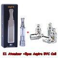 Original Aspire K1 Atomizador Cigarrillos Electrónicos Vertical Inferior Bobina BVC K1 Clearomizer Con 5 unids Aspire BVC Bobina VS evod mega