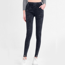 Ms. Spring and Autumn Wear Slim High Waist Leggings Hips Simple Solid Color Cropped Pants