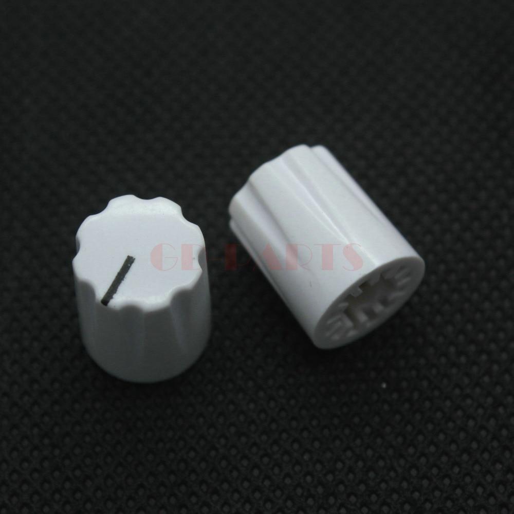 GD-части белый 13x16 мм Пластик указатель ручки для Дэвис 1900 H Гитары AMP Педаль эффектов Stomp коробка dj-микшер Радио 1/4 вал отверстие