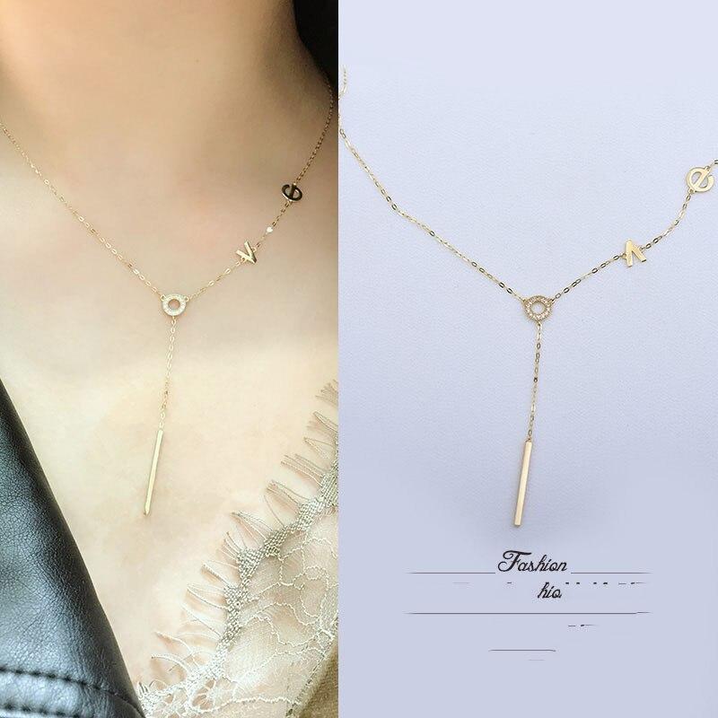 Collier en or 14 k en forme de coeur AU58.8 14 K collier H002-in Colliers from Bijoux et Accessoires    3