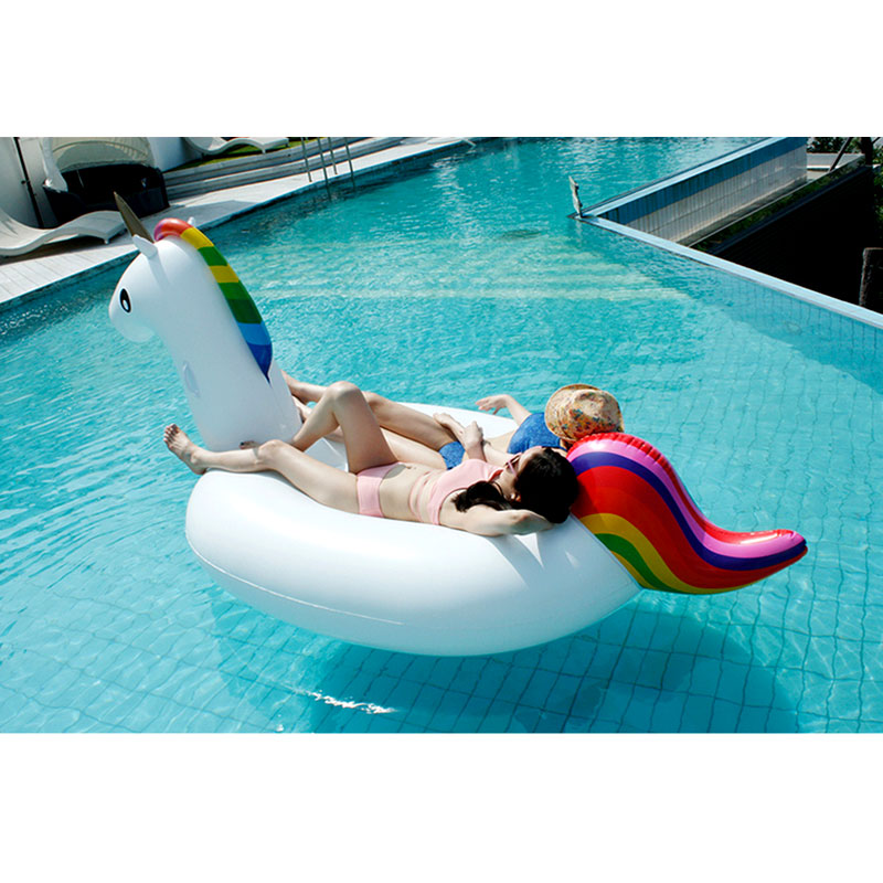 Pool Floating Inflatable Boat Unicorn Swimming Float Swan Adult Tube Raft Kid Swim Air Mattresses Ring Summer Row Water Toy dolphin starfish printed inflatable floating boat