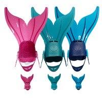 Kids Swimming Fins Swimming Foot Training Flipper Diving Feet Tail Monofin FOR CHILDREN Mermaid Swim Fin