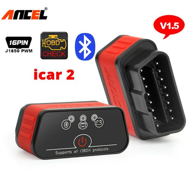 Automotive Scanner OBD2 ELM327 V1.5 Bluetooth Adapter Ancel icar2 Car Diagnostic Scanner OBD 2 Auto Code Reader Diagnosis Tool