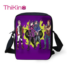 Thikin Descendants Shoulder Messenger Bag Crossbody School Supplies for Girls Shopping Bags Mochila Infantil