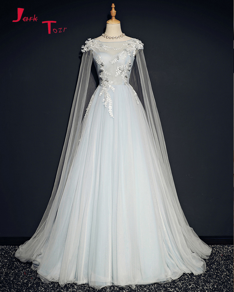 8e61a9f34cf Jark Tozr Custom Made Tulle Shawl Appliques Flowers A-line Bride Wedding  Dresses China Online Shop China Vestidos De Novia 2019 in Pakistan