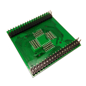 Image 4 - Tqfp80 fqfp80 qfp80 para dip80 OTQ 80 0.5 02 queimar no passo do soquete do teste 0.5mm ic tamanho do corpo 12x12mm adaptador de programação soquete zif