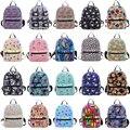 Moda Feminina versão Coreana Da Nova fêmea lona mochila Vento Colégio Mini Pequena mochila Multifuncional Múmia Sacos de Viagem