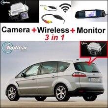 3 في 1 كاميرا خاصة ومستقبل لاسلكي وشاشة مرآة ونظام وقوف السيارات سهل التركيب لفورد S Max S Max Smax 2010 ~ 2014