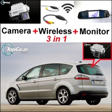 3 in1 Special Camera + Wireless Receiver + Mirror Monitor Easy DIY Parking System For Ford S Max S Max Smax 2010~2014