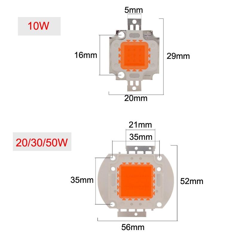 LED мъниста чип 10W 20W 30W 50W пълен спектър - Професионално осветление - Снимка 5