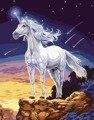 DIY Картина Маслом Картины На Холсте Домашнее Украшение стены искусства Quadros де parede сала эстар Белая лошадь Краски По Номерам YXZ50