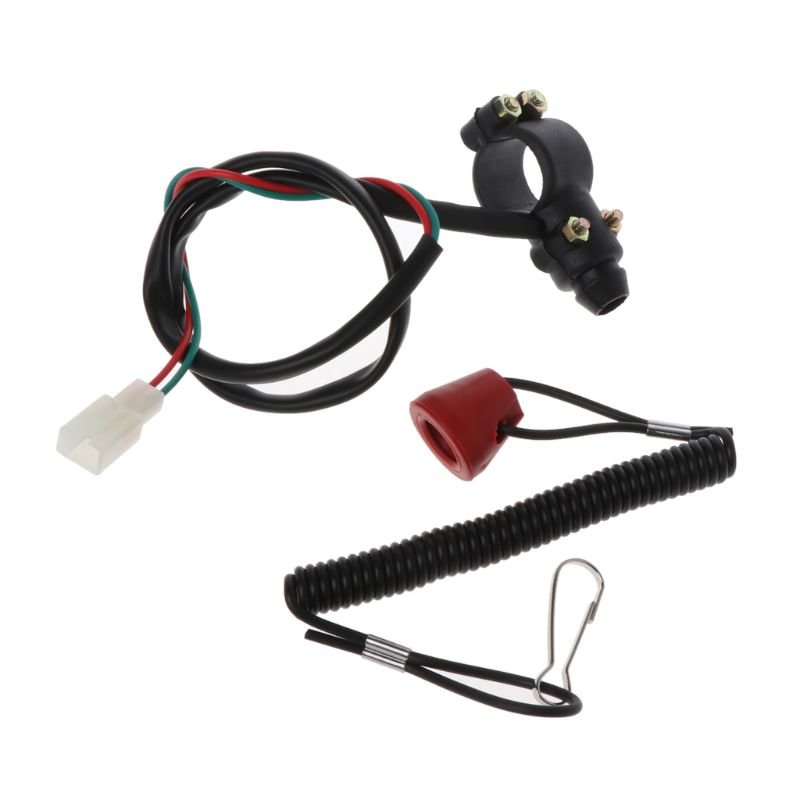 Motorcycle Flameout Switch With Tether Engine Shut-off Equipment Universal Boat Replacement Parts For Braking Emergency Stop
