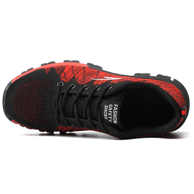 Breathable Mesh Outdoor Industrial & Construction Steel Toe Men's Shoes 2