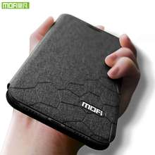 For Huawei honor 10i case for huawei cover silicone back original Mofi flip leather 6.21