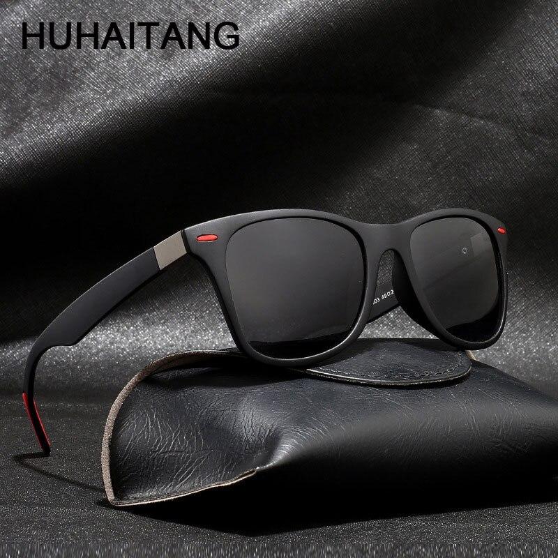 HUHAITANG Luxury Classic Polarized Sunglasses Men 2019 Outdoor Driving Sunglass Women Pilot Brand Designer Sun Glasses For Mens