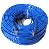 Câble réseau RJ45 Ethernet Cat5 fil de raccordement LAN, bleu 30m 1 pièces