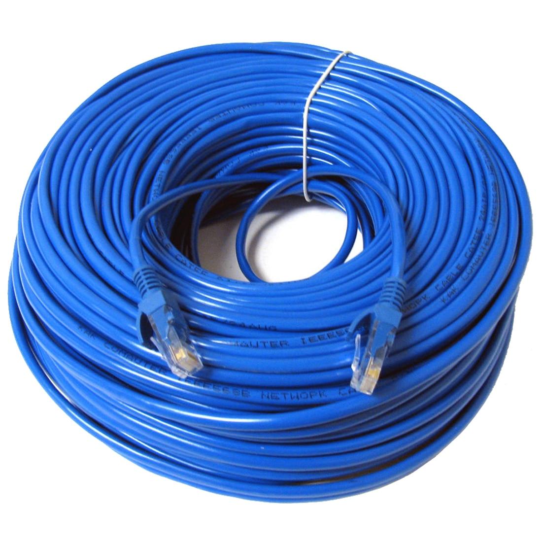 RJ45 Cat5 Ethernet Cabo de Rede LAN Patch Chumbo, 30m Azul 1pcs