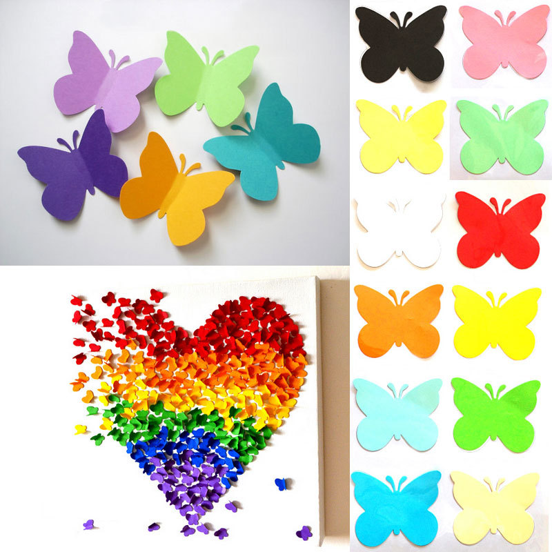 Buy 20pcs a set 3d decorative butterflies for Stickers para decorar paredes infantiles