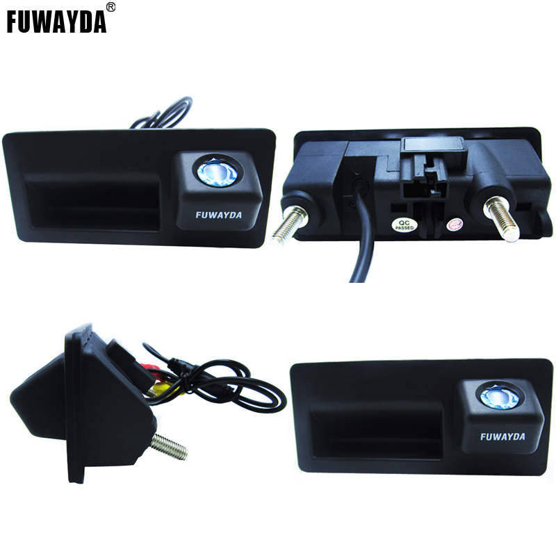 FUWAYDA Night Vision 170'' Wide view Angle HD Handle CCD Car RearView Reverse parking <font><b>Camera</b></font> for <font><b>Audi</b></font> A4 A6 A8L S5 <font><b>Q3</b></font> Q5 image