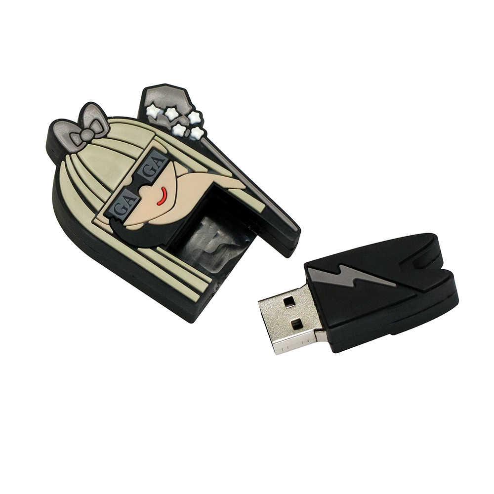 Красивая Богиня леди гага модель USB флэш-накопитель 4 ГБ 8 ГБ 16 ГБ 32 ГБ 64 ГБ USB2.0 флеш-карта памяти диск Флешка креативный подарок