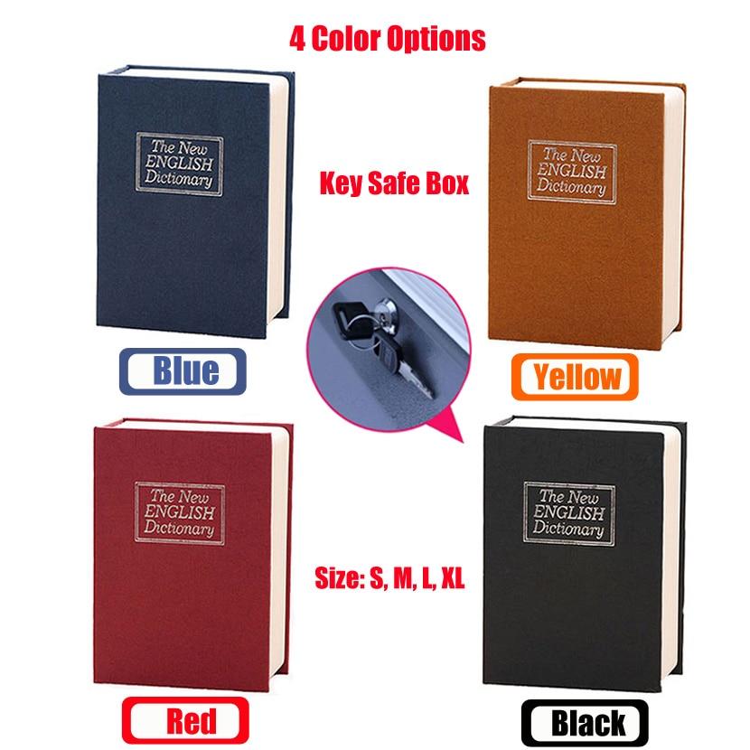 Купить с кэшбэком Dictionary Mini Safe Box Book Money Hidden Secret Security Safe Lock Cash Money Coin Storage Jewellery key Locker For Kid Gift