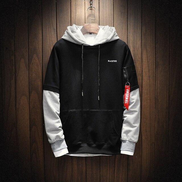 00267150a0f Cool Sweatshirt Men Hip Hop patchwork Long Sleeve Pullover Hoodies 2018  Sweatshirt hoodies Men high quality. Mouse over to ...