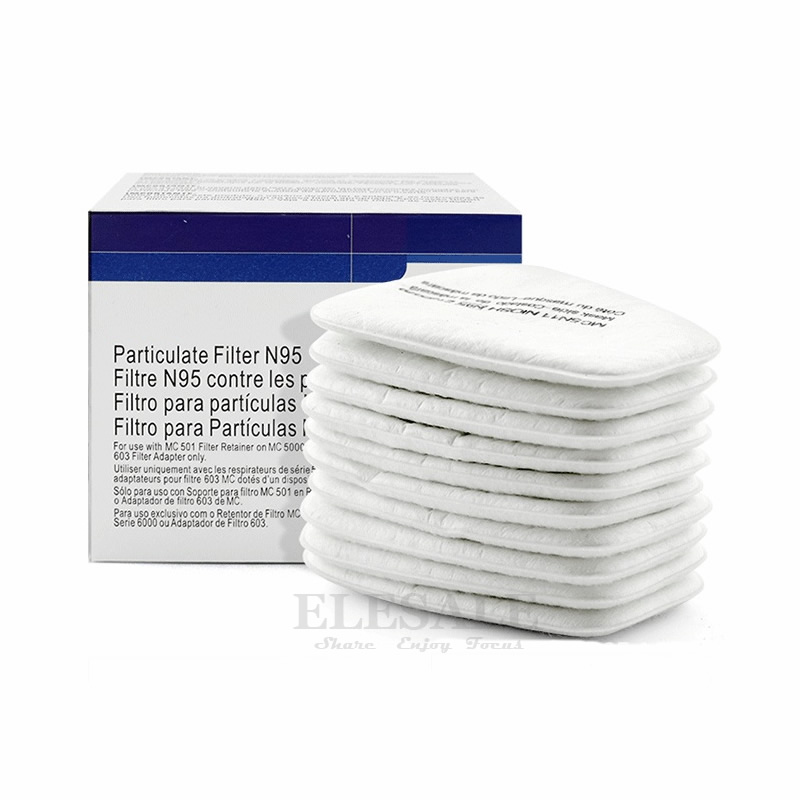 10pcs 5N11 Cotton Filters 501 Filter Cover Replaceable For 6200/7502/6800 Dust Mask Chemical Respirator Painting Spraying