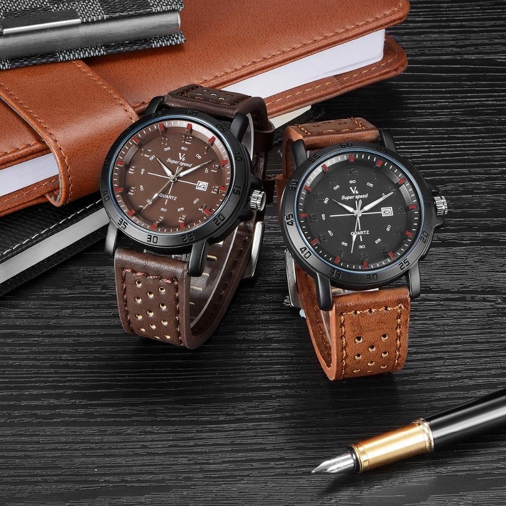 купить V6 Top Brand Waterproof Sport Watch Men Watch Auto Date Military Watches Fashion Army Men's Watch Clock Men relogio masculino по цене 520.18 рублей
