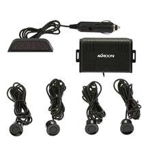 KKmoon 4 Датчики Помощи При Парковке Система Автомобильная Стоянка Датчика Обратный Радиолокатор Оповещения Беспроводной ЖК-Дисплей