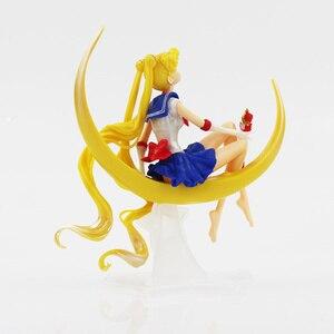 Image 3 - Figurine de dessin animé marin lune Tsukino en PVC 15cm/16cm, décoration de gâteau avec ailes, modèle de poupée, cadeaux pour filles