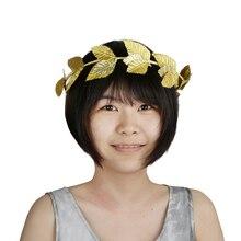 10 Pcs Elegant Golden Leaf Headband for Women Metal Hair Clips Engagement Wedding Bridal Fashion Decor