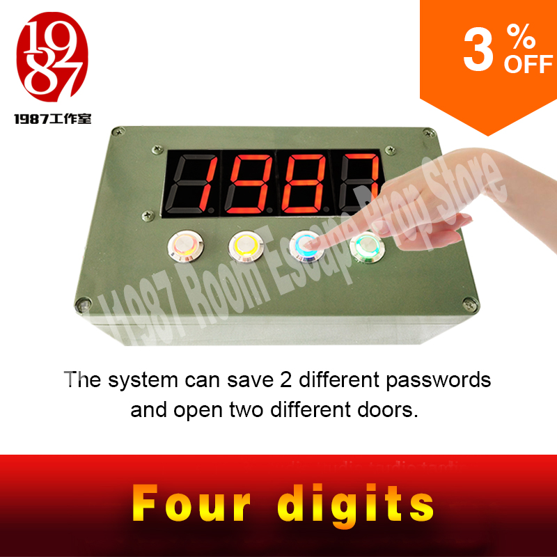 combination panel led version Room Escape Chamber props Adventure game props escape room game prop hidden password to unlock