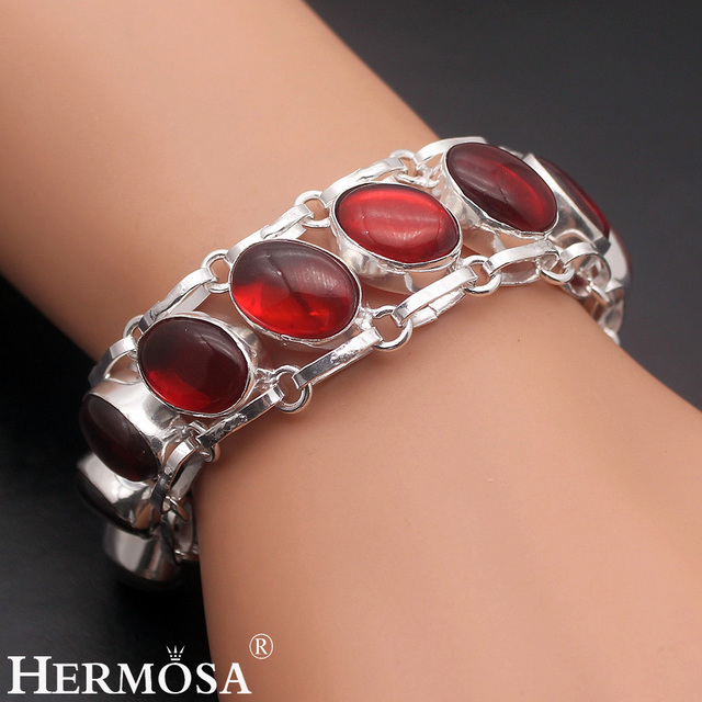 Charming Lady Jared Jewelry Red FireTopaz Hot Gift 925 Sterling