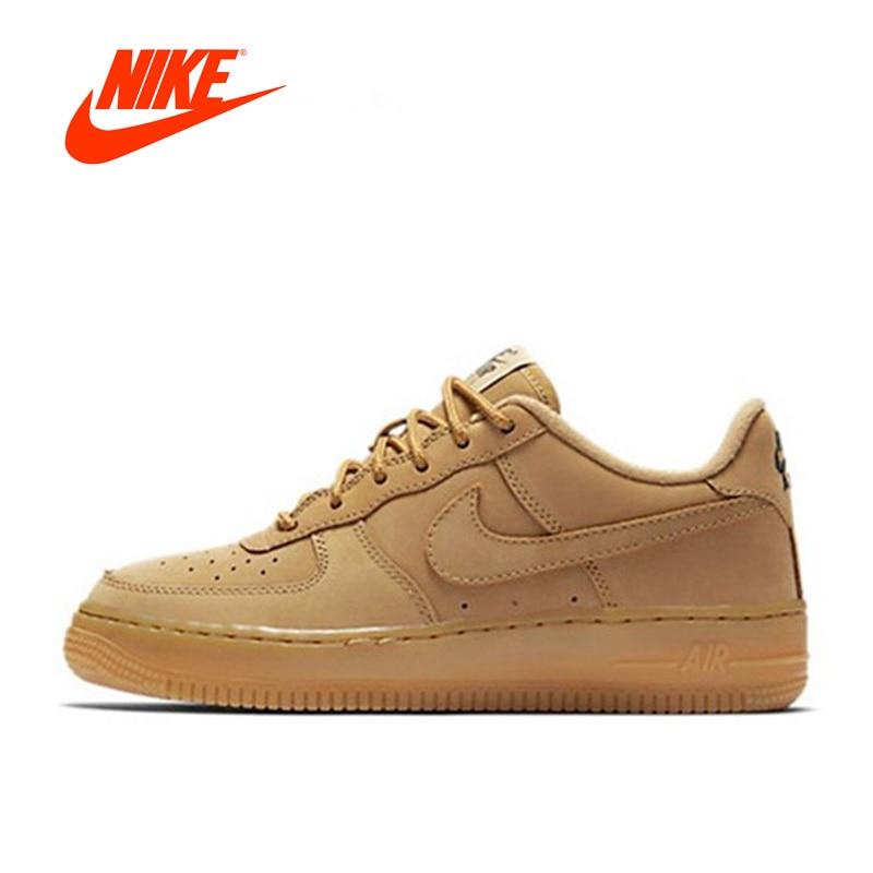 Original Nouvelle Arrivée Officiel Nike Air Force 1 Bas AF1 Respirant Hommes Planche À Roulettes de Chaussures de Sport Sneakers