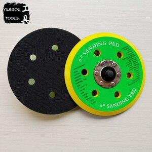 "Image 3 - 2 Pieces 150mm 6 Hole Sanding Pad 6"" Polishing Disc 6 Hole Polishing Plate 6 inch Grinding Disc Screw Thread M8"