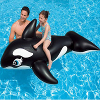 Giant Inflatable Black Whale Crocodile Swimming Pool Water Float Mat Summer Adults Kids Outdoor Water Toys For Children