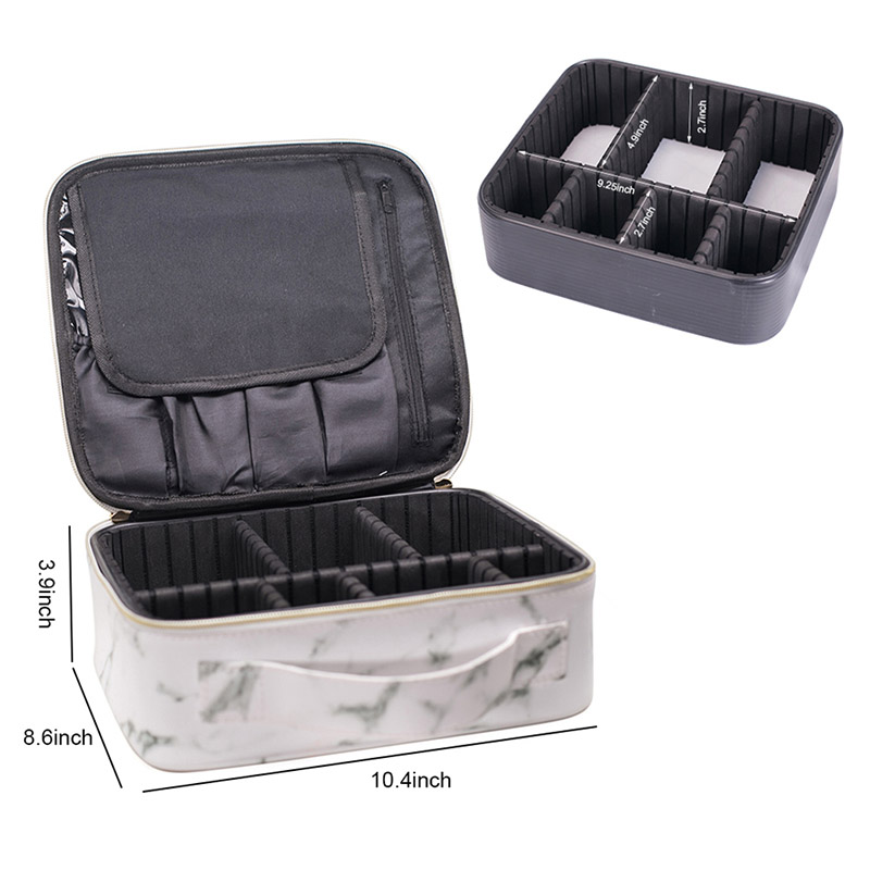 2019 New Marble Waterproof Portable Cosmetic Bag Women Travel Make Up Makeup Organizer Bag Large Capacity Travel Kits