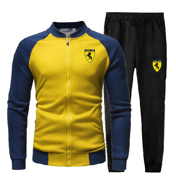 Men's Gym TrackSuit Sport Jacket Coat Suit Set Trousers Jogging Bottom Top Sweatsuits Blazer Train Track Suit