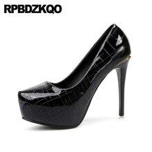 Metallic Scarpin Black 12cm 5 Inch Super Catwalk Silver Platform Women Shoes  Pointed Toe Ultra Extreme b18707f2a1ef