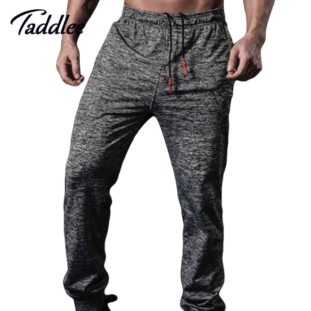 Taddlee Brand Mens Joggers Pants Sports GYM Fitness Trousers Running Active Slim Fit Bottoms Skinny Man SweatPants with Pocket