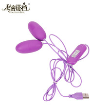 10 Frequency Mini Bullet Vibrator Speed Adjustable USB Massager Adult Sex Product Waterproof Dual Egg