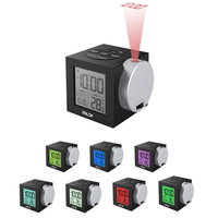 12/24 Hours Always on Projection Clock ,Big Number Display Colorful Backlight Snooze Alarm Clock With US/EU Plug Or Battery Powe